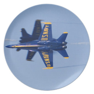Blue Angels perform knife-edge pass during 2006 Party Plates