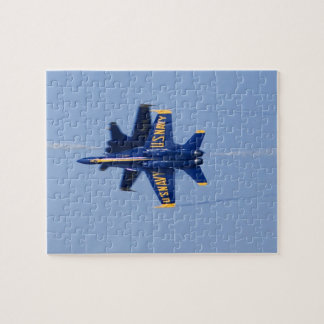 Blue Angels perform knife-edge pass during 2006 Puzzle