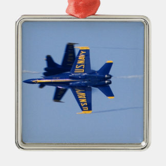 Blue Angels perform knife-edge pass during 2006 Silver-Colored Square Decoration