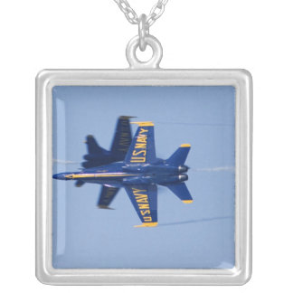 Blue Angels perform knife-edge pass during 2006 Square Pendant Necklace