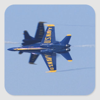 Blue Angels perform knife-edge pass during 2006 Square Sticker