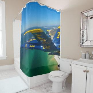 blue angels shower curtain