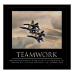 Blue Angels Teamwork Poster