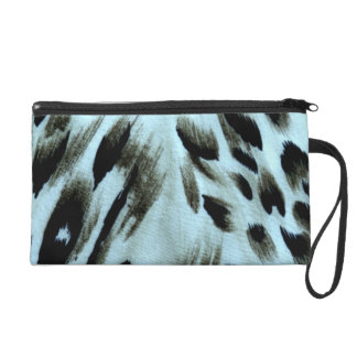 Blue Animal Print Art Wrist Bag