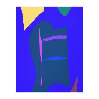 Blue Anime Robot Liquid Economy Dry Wind Stretched Canvas Print