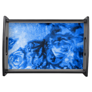 Blue Antique Rose Serving Tray