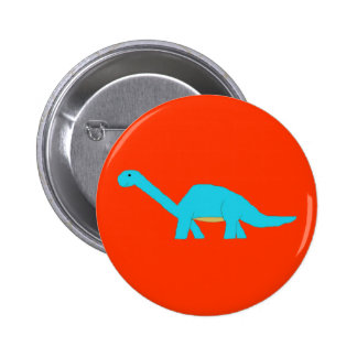 Blue apatosaurus pin