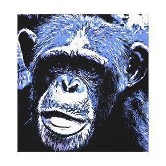 Blue Ape Stretched Canvas Prints