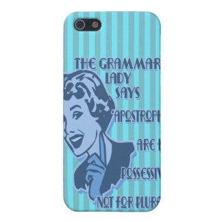 Blue Apostrophes iPhone Speck Case Case For iPhone 5/5S