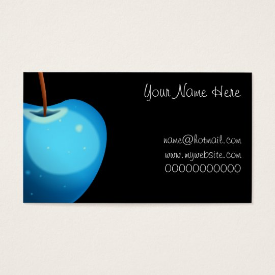 Blue Apple, Your Name Here, name@hotmail.comwww Business Card