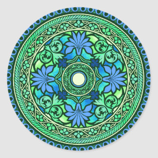 Blue & Aqua Disc Indian Wedding Invitation Sticker