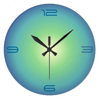Blue aqua Green>Coloured Kitchen Clock
