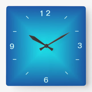Blue Aqua Illuminated Plain Wall Clock