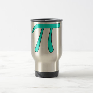 Blue Aqua Pink Hot Baby Light Pi 3.14 symbol Math Travel Mug