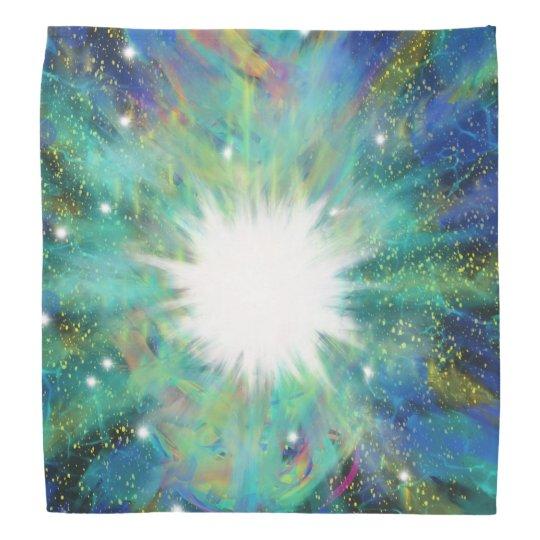 Blue Aqua Star Abstract Art Design Bandanas