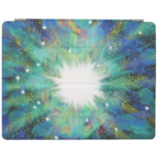 Blue Aqua Star Abstract Art Painting Design iPad Cover