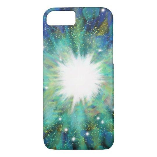 Blue Aqua Star Abstract Art Painting Design iPhone