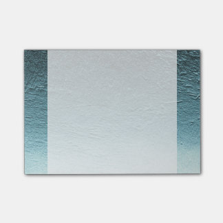 Blue aqua teal gradient aluminium grunge post-it notes