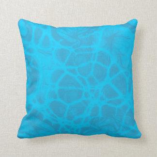 Blue aqua teal Throw pillow