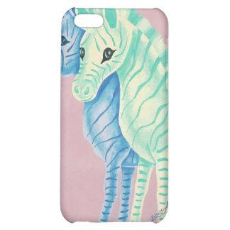 Blue & Aqua Zebras iPhone 5C Case