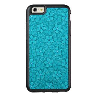 Blue Aquamarine Flower Petals Pattern OtterBox iPhone 6/6s Plus Case