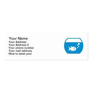Blue aquarium business card