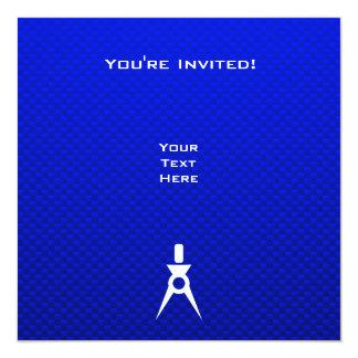 Blue Architect 5.25x5.25 Square Paper Invitation Card