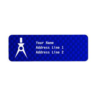 Blue Architect Return Address Label