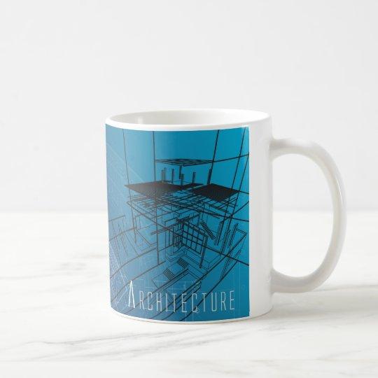 Blue Architecture Blueprint Mug