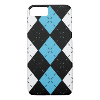 Blue Argyle Cell Phone Case