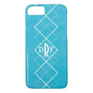 Blue Argyle Monogram iPhone 8/7 Case