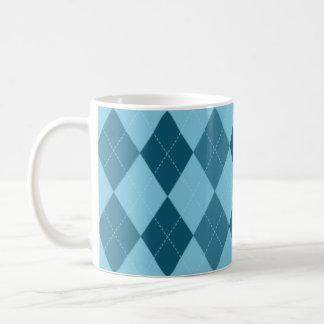 Blue Argyle Mug