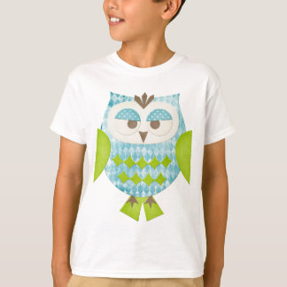 Blue Argyle Owl T-Shirt