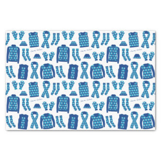 Blue Argyle Pattern Items Tissue Paper