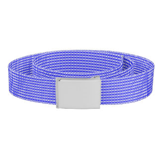 Blue Argyle Print Belt