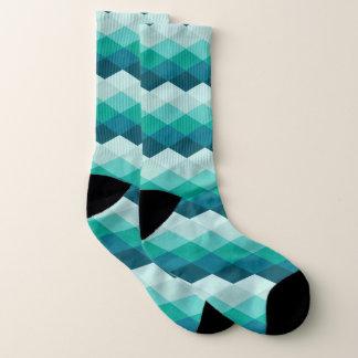 Blue Argyle Socks
