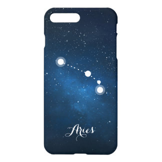 Blue Aries Zodiac Sign Constellation iPhone 7 Plus Case