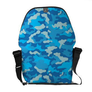 Blue Army Military Camo Camouflage Pattern Texture Courier Bag