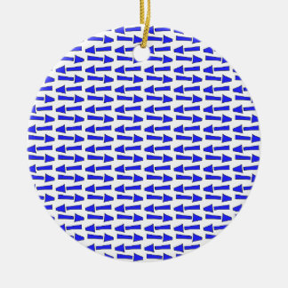 Blue arrow round ceramic decoration