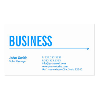 Blue Arrow Sales Manager Business Card