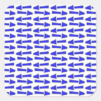 Blue arrow square sticker