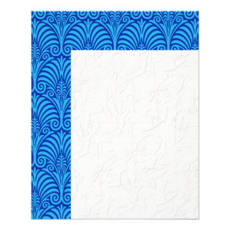 Blue,art deco,nouveau,fan pattern,chic,elegant,fun 11.5 cm x 14 cm flyer