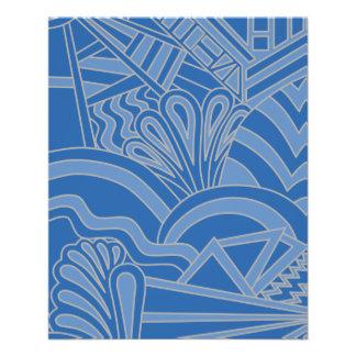 Blue Art Deco Style Design Custom Flyer