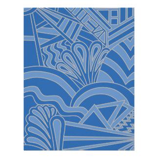 Blue Art Deco Style Design. Custom Flyer
