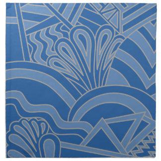 Blue Art Deco Style Design. Napkin
