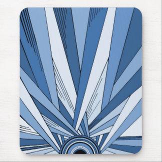 Blue Art Deco style Mousepad