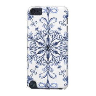 Blue Art Nouveau Design on White iPod Touch 5G Cover