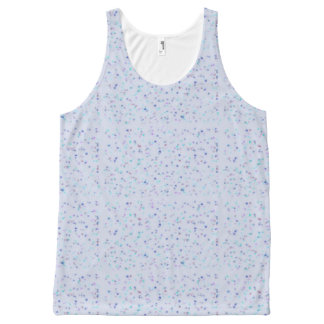 Blue artsy design All-Over print tank top