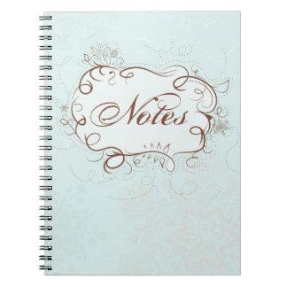 Blue Artsy Notebook