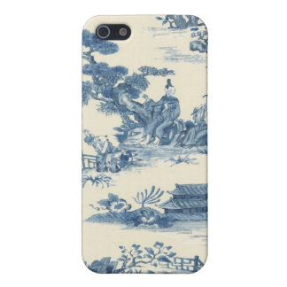 Blue Asian Toile iPhone Case iPhone 5 Cover
